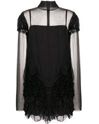 Vera Wang ギャザー ドレス - ブラック