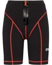 Heron Preston Pantalones cortos de ciclismo de talle alto - Negro