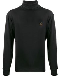 Polo Ralph Lauren Roll Neck Long Sleeve Top - Black