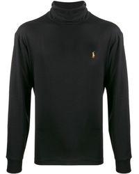 Polo Ralph Lauren Top à col roulé à manches longues - Noir