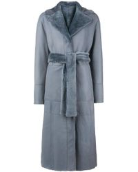 DROMe - Belted Reversible Coat - Lyst