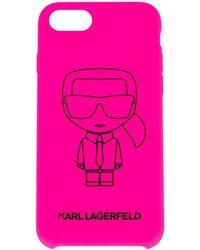Karl Lagerfeld Coque d'iPhone 8 K/Ikonik - Rose