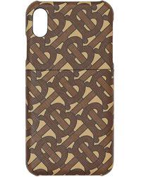 Burberry モノグラム Iphone X/xs ケース - ブラウン
