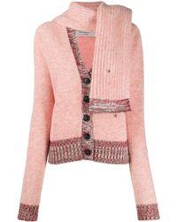 Victoria Beckham Cardigan mit V-Ausschnitt - Pink