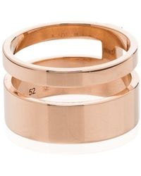 Repossi 18kt Rose Gold Berbere Double Ring - Metallic