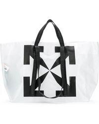 Off-White c/o Virgil Abloh Bolso shopper con motivo Arrows - Blanco
