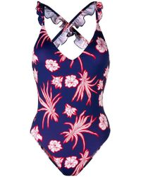 Pinko - Floral Swimsuit - Lyst