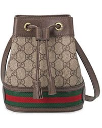 Gucci Brown Ophidia Small Gg Bucket Bag