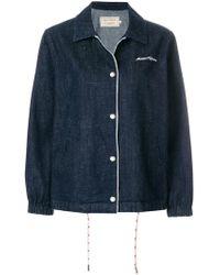 Maison Kitsuné - Oversized Denim Jacket - Lyst