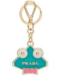 Prada Saffiano Leather Keychain Trick - Green