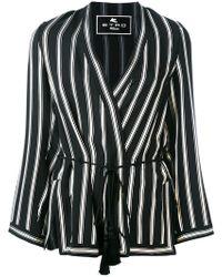 Etro - Striped Wrap Jacket - Lyst