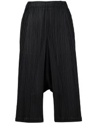 Pleats Please Issey Miyake - Pleated Dropped-crotch Trousers - Lyst