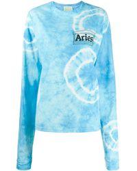 Aries ロゴ スウェットシャツ - ブルー