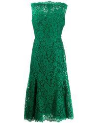 Dolce & Gabbana Jurk Met Bloemenprint - Groen