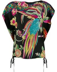 RED Valentino Bird Of Paradise Print Blouse - Black