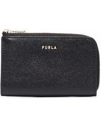 Furla Zipped Leather Purse - Black