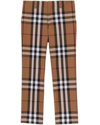 Burberry Pantalon de costume à imprimé House Check - Marron