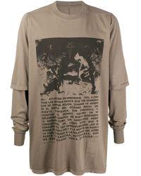 Rick Owens Drkshdw - レイヤード Tシャツ - Lyst