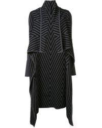 Gareth Pugh - Chevron Draped Cardi-coat - Lyst