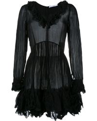 Givenchy - Creased Ruffled Dress - Lyst