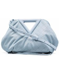 Bottega Veneta The Point Intrecciato Bag - Blue