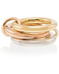 Spinelli Kilcollin 18kt Gold 3 Link Ring - Metallic