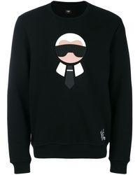 Fendi カーリト スウェットシャツ - ブラック