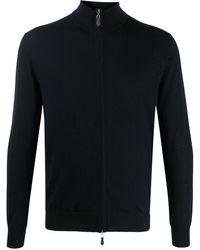 N.Peal Cashmere ロングスリーブ ジップ セーター - ブルー