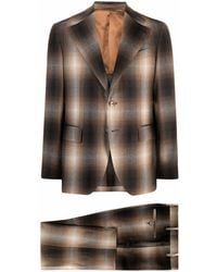 Gabriele Pasini Checked Single-breasted Suit - Brown