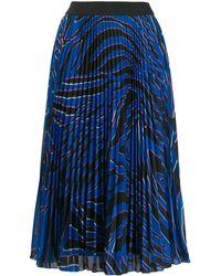 ESCADA - Pleated Print Skirt - Lyst
