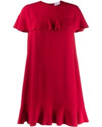 RED Valentino - ラッフルトリム ドレス - Lyst