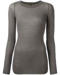 Rick Owens - Ribbed T-shirt - Lyst