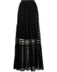 Philosophy Di Lorenzo Serafini ストライプ シアースカート - ブラック