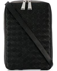 Bottega Veneta Intrecciato Cross-body Bag - Black