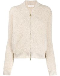 Zanone Textured Knitted Cardigan - Natural