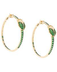 Aurelie Bidermann - Scarab Couture Tsavorite And Diamond Earrings - Lyst