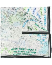 Faliero Sarti Green Planet スカーフ - ホワイト