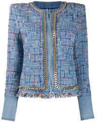 Balmain Tweed Blazer - Blauw