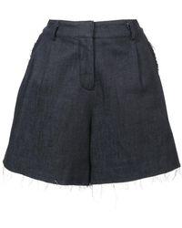 Nicole Miller High-waisted Shorts - Blue