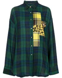 Ermanno Scervino - Plaid Patch Long-sleeve Shirt - Lyst