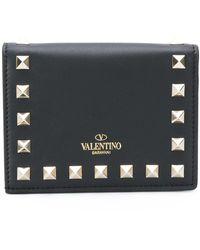 Valentino Garavani Rockstud Studded Wallet - Zwart