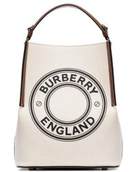 Burberry - Logo-print Tote - Lyst