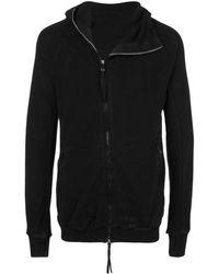 Boris Bidjan Saberi Contrast Collar Hooded Jacket - Black