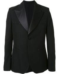 Sankuanz コントラストラペル ジャケット - ブラック
