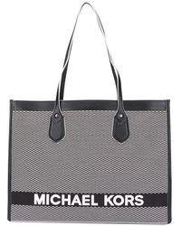 MICHAEL Michael Kors Bay Shopping Bag Jacquard Logo - Black