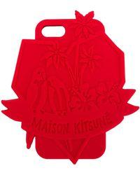 Maison Kitsuné シリコン Iphone 7 カバー - レッド