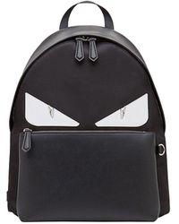Fendi Large Bag Bugs Backpack - Black