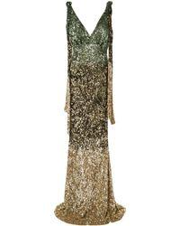 Rachel Gilbert Jacinta V-back Gown - Green