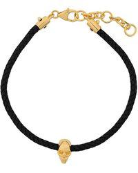 Northskull Atticus Skull Cord Bracelet - Black