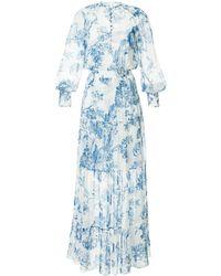Oscar de la Renta Florales Kleid - Weiß